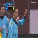 Tim Leibold (Hamburger SV) red card vs St. Pauli