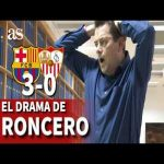 Tomas Roncero, an AS journalist and madridista, meltdown during the final moments of the FCB v SEV game.