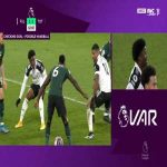 VAR reviews Mario Lemina handball vs Tottenham - Josh Maja goal has been disallowed