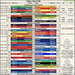 [OC] A Cheat Sheet & TV Guide Before Friday's Light Slate of Fixtures
