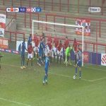Morecambe 3-[0] Carlisle 71' - Indirect free kick on the 6-yard box with 11 men behind the ball