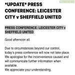 Sheff Utd press conference cancelled...
