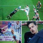 [Serie A] Cagliari-Juventus: Cristiano Ronaldo's tackle on goalkeeper Alessio Cragno