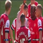 On this day 7 years ago, Kieran Gibbs was sent-off for handball committed by Oxlade-Chamberlain