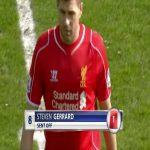 On this day on 2015, Steven Gerrard was sent off in 38 seconds after coming on as a half time substitute