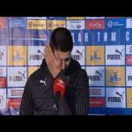 Aleksandar Mitrović tears up in post match interview after setting new NT goal record
