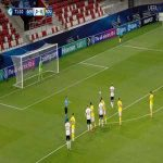 Lukas Nmecha (Germany U21) penalty miss against Romania U21 72'
