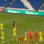 Patrik Schick (Czech Republic) straight red card against Wales 48'