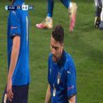 Riccardo Marchizza (Italy 21) second yellow card against Slovenia U21 82'