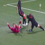 Terrible injury for Daley Blind vs Gibraltar