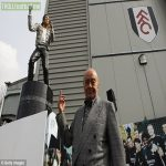 On this day a decade ago, Fulham then-chairman Mohamed Al Fayed unveils a statue of Michael Jackson at Craven Cottage.