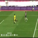 Suspect defending leading to a goal in the Moroccan league game between Moghreb Tetouan and RCA Zemamra