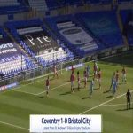 Coventry 1-0 Bristol City - Leo Ostigard 9'