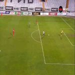 (Bulgarian First League) Dimitar Iliev with the Miss of the Year vs Tsarsko Selo