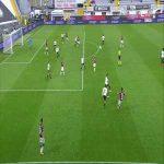 Spezia 0-1 Crotone - Koffi Djidji 41' great goal