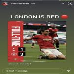 "Amad Diallo on Instagram: ""London is Red 🔴"""