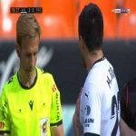 Maximiliano Gomez (Valencia) 2 yellow cards in a row against Real Sociedad 80'