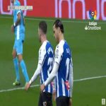 Raul De Tomas (Espanyol) penalty miss against Leganes 19'
