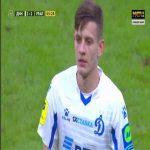 Sebastian Szymanski (Dynamo Moscow) second yellow card against Ural 57'
