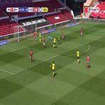 Nottingham Forest 0-[1] Huddersfield - Aaron Rowe 45+1'