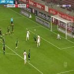 Koen Casteels (Wolfsburg) penalty save against Stuttgart 26'