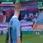 Kevin De Bruyne talking to Son at full time