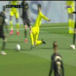 Manu Trigueros leg breaker on Messi from todays game (given straight red)