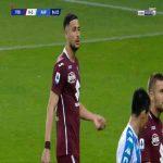 Rolando Mandragora (Torino) second yellow card against Napoli 88'