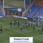 Shrewsbury 0-1 Lincoln - Jorge Grant 11'