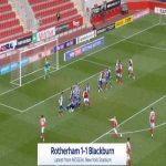 Rotherham [1]-1 Blackburn - Lewis Wing free-kick 86'