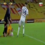 Miguel Russo (Boca JR's manager) tackled on today's match against Barcelona SC