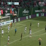 Nice clearance by Mandy Freeman for Gotham FC | NWSL Challenge Cup Final