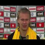Haaland funny interview after winning DFB pokal trophy