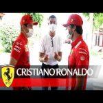 Cristiano Ronaldo races Charles Leclerc and Carlos Sainz at Fiorano