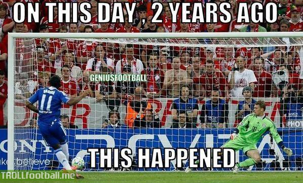 Today in History : Chelsea defeat Bayern in Munich to win the Champions League