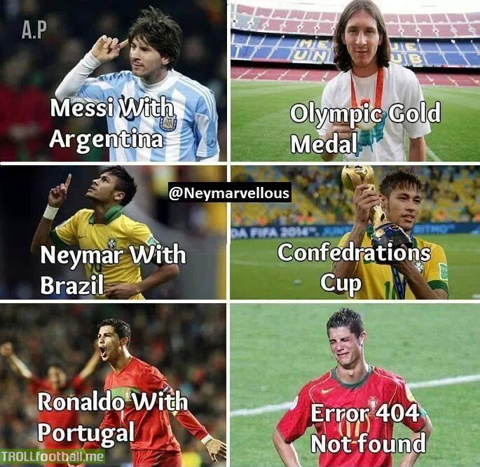 Messi v Neymar v Ronaldo with their national teams | Troll ... Funny Football Trolls 2017