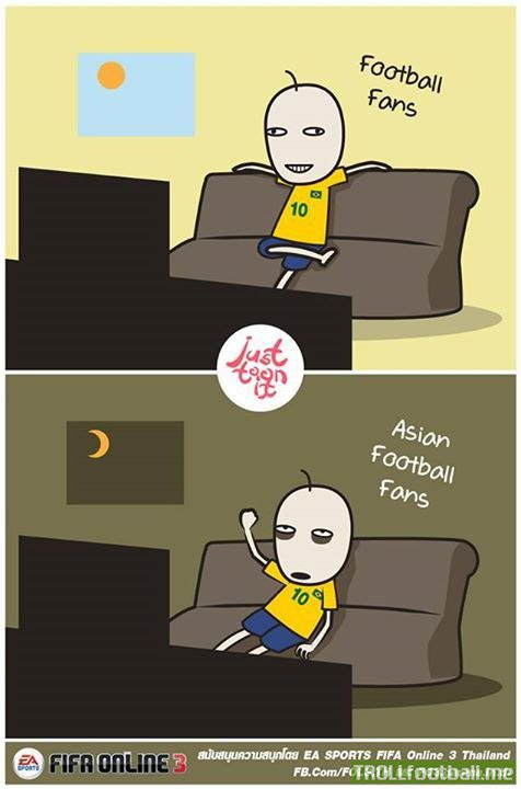 Just Toon it - Asian Football Fans during the World Cup
