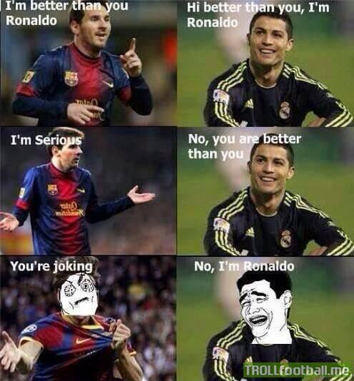 Ronaldinho Soccer Quotes Ronaldo trolling messi...