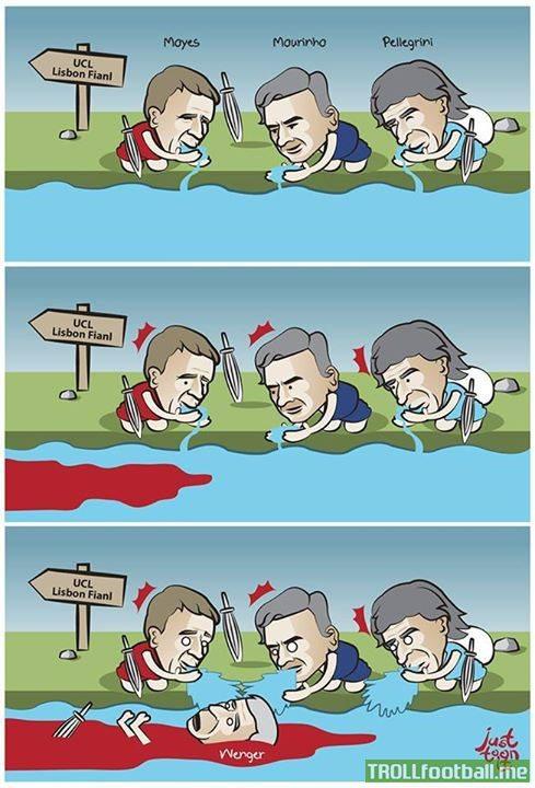 Just toon it Cartoon : English Clubs' Road To Lisbon