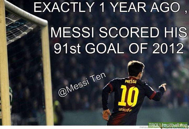 Calendar Year Top Scorers : Leo messi scoring his st goal in a calendar year troll