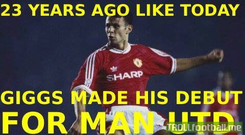 Today in History : Ryan Giggs makes his Manchester United Debut