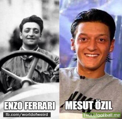 Enzo Ferrari And Mesut Ozil Troll Football