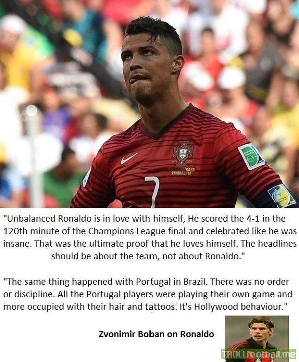 Zvonimir Boban on Cristiano Ronaldo