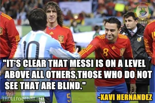 xavi hernandez on messi troll football