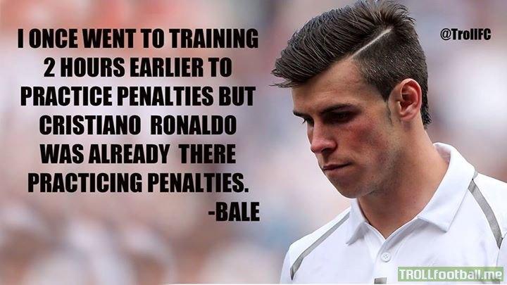 Gareth Bale on Cristiano Ronaldo