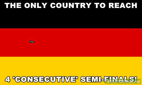 Germany is the only country to reach 4  consecutive World Cup Semifinals