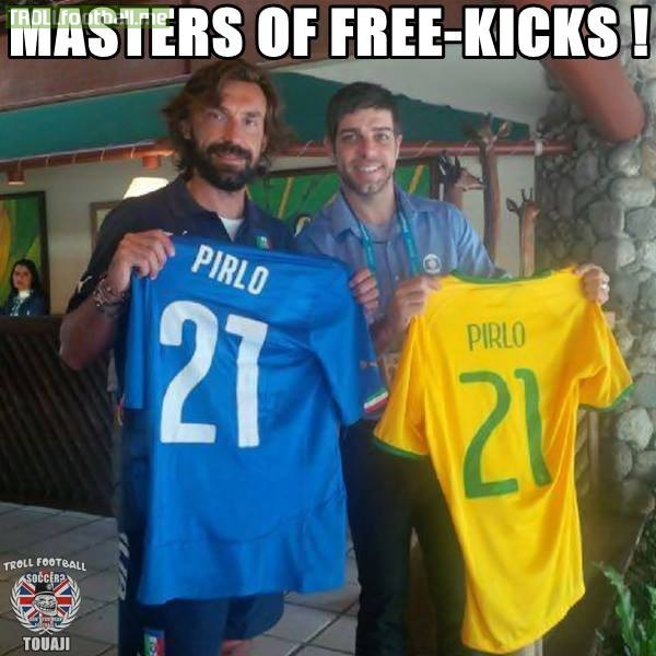andrea pirlo and juninho pernambucano masters of free kicks