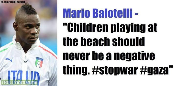 Mario Balotelli on children killed in Gaza