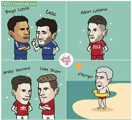 Just toon it : EPL Teams are signing players and Wenger meanwhile ...