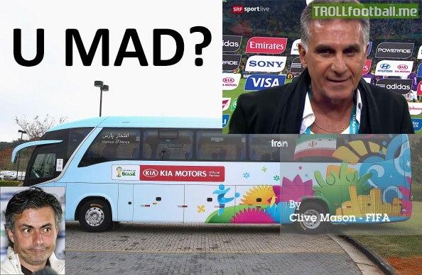 Mourinho wants rent Queiroz bus